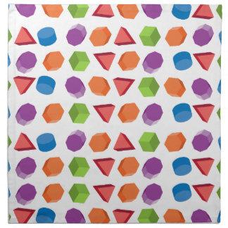Geometric pattern napkin
