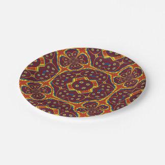 Geometric pattern paper plate
