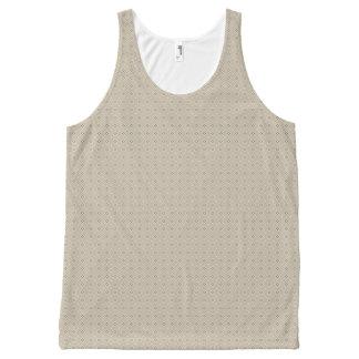 Geometric pattern pattern burugure × beige All-Over-Print Tank Top