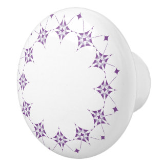 Geometric pattern pattern purple ceramic knob
