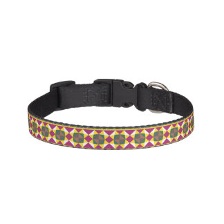 Geometric pattern pet collar