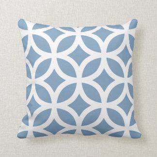 Geometric Pattern Pillow in Dusk Blue