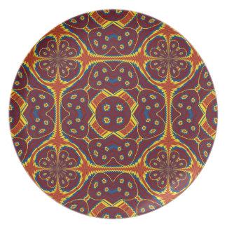 Geometric pattern plate