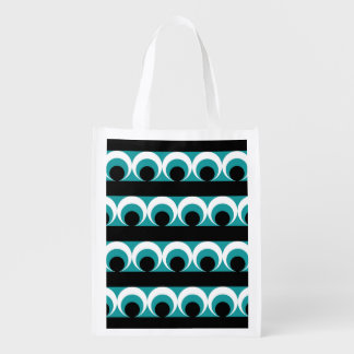 Geometric pattern reusable grocery bag
