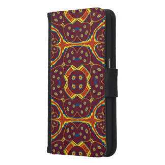 Geometric pattern samsung galaxy s6 wallet case