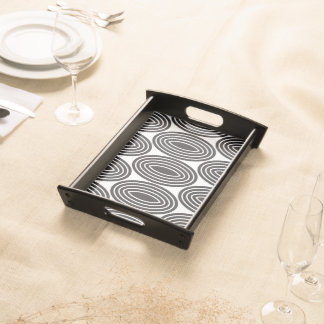 GEOMETRIC PATTERN SERVING TRAY