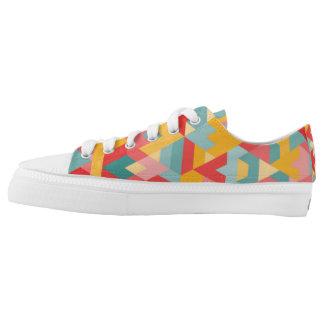 Geometric Pattern Sneakers