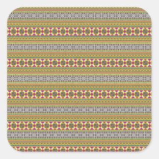 Geometric pattern square sticker