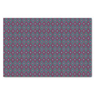 Geometric pattern tissue paper
