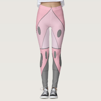 Geometric Pattern Triangles Ovals Pink Gray Funny Leggings