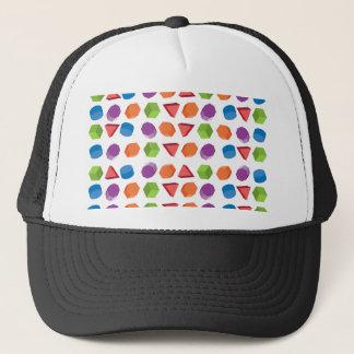 Geometric pattern trucker hat