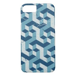Geometric Pattern Vintage Style Blue iPhone 7 Case