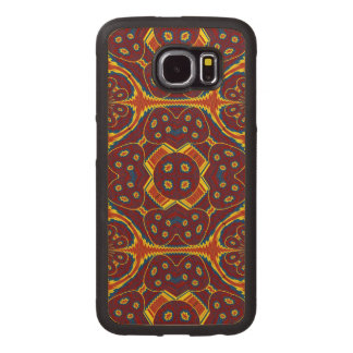 Geometric pattern wood phone case