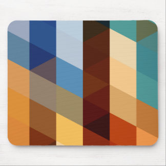 Geometric Patterns | Blue and Orange Triangles Mouse Pad