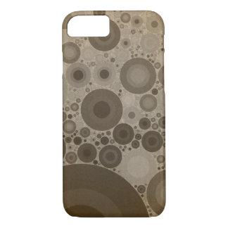 Geometric Patterns   Brown Taupe Circles iPhone 7 Case