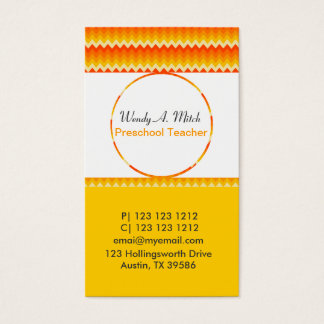 Geometric Patterns  Circle Smack in the Middle Business Card