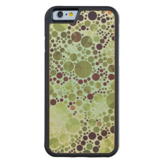 Geometric Patterns | Green Circles and Triangles Maple iPhone 6 Bumper Case