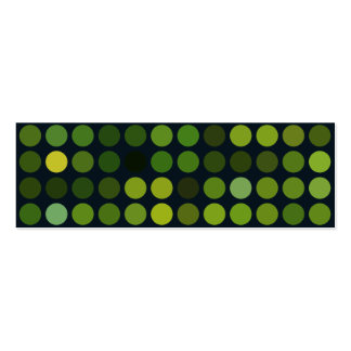 Geometric Patterns | Green circles Business Card Template