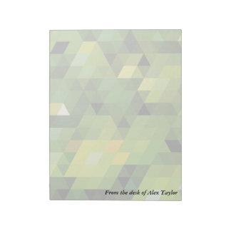 Geometric Patterns | Green triangles Notepad