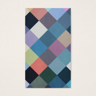 Geometric Patterns | Multicolor Blocks Business Card