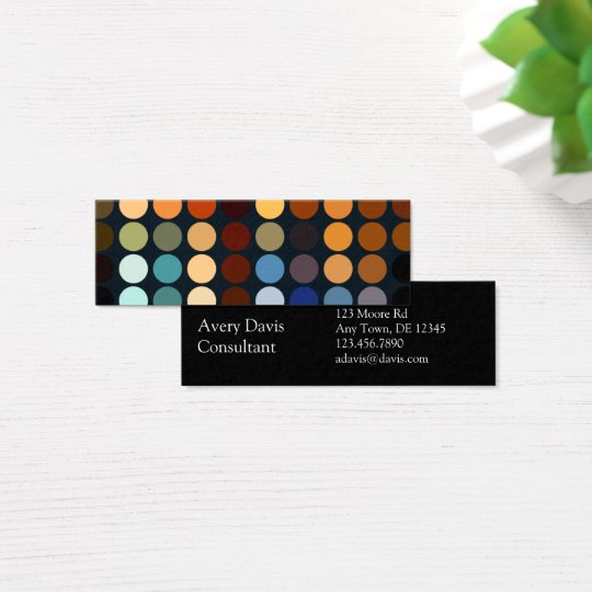 Geometric Patterns | Multicolor Circles II Mini Business Card