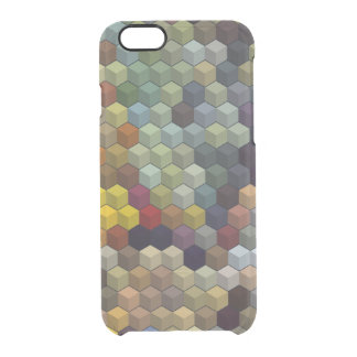 Geometric Patterns | Multicolor cubes / blocks Clear iPhone 6/6S Case