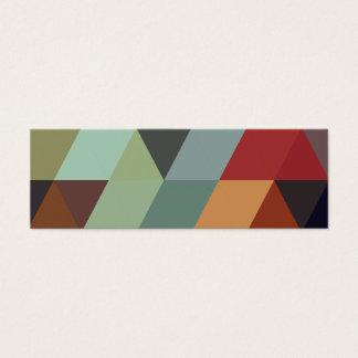 Geometric Patterns | Multicolor Triangles Mini Business Card