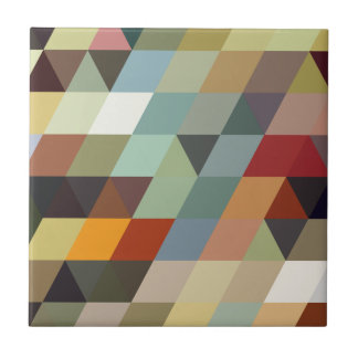 Geometric Patterns | Multicolor Triangles Tile