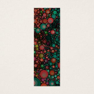 Geometric Patterns | Retro | Teal Green Mini Business Card