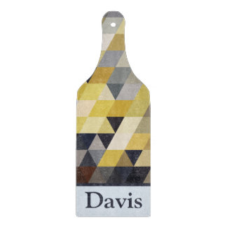 Geometric Patterns | Yellow and Blue Triangles Cutting Boards