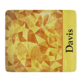 Geometric Patterns | Yellow Triangles and Circles Cutting Boards
