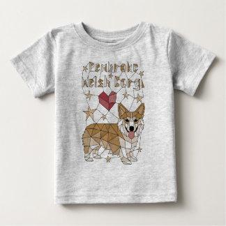 Geometric Pembroke Welsh Corgi Baby T-Shirt