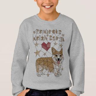 Geometric Pembroke Welsh Corgi Sweatshirt