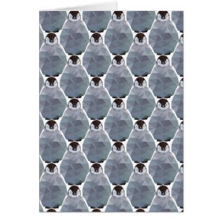Geometric Penguin Huddle Print Card