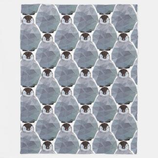 Geometric Penguin Huddle Print Fleece Blanket