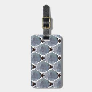 Geometric Penguin Huddle Print Luggage Tag