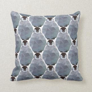 Geometric Penguin Huddle Print Throw Pillow