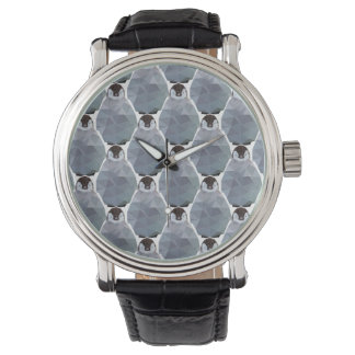 Geometric Penguin Huddle Print Wrist Watches