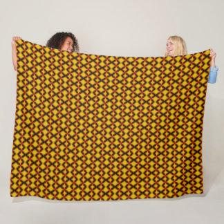 Geometric Phoenix Tile Satin Pattern Fleece Blanket