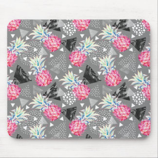 Geometric Pineapple Textured Pattern Mouse Pad