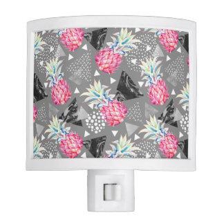 Geometric Pineapple Textured Pattern Nite Lights