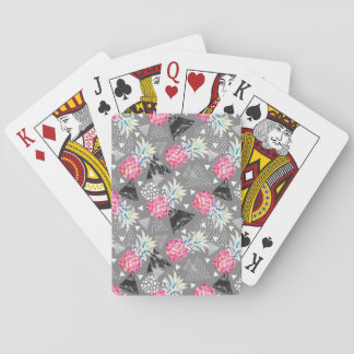 Geometric Pineapple Textured Pattern Playing Cards