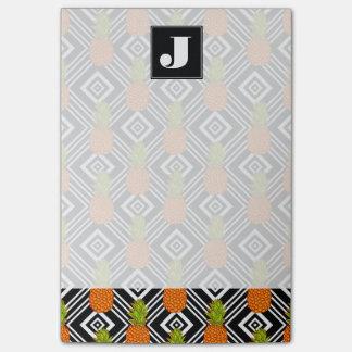 Geometric Pineapples | Monogram Post-it® Notes