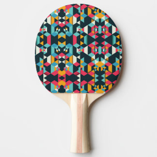 Geometric Ping Pong Paddle, Red Rubber Back Ping Pong Paddle