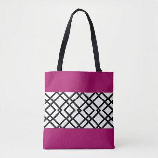 Geometric Pink Tote Bag