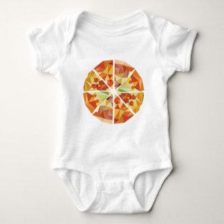 Geometric pizza baby bodysuit