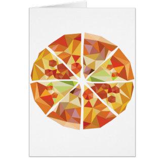 Geometric pizza card