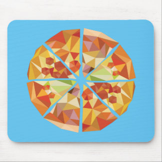 Geometric pizza mouse pad