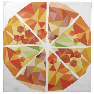 Geometric pizza napkin