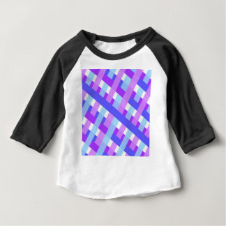 geometric plaid gingham diagonal baby T-Shirt